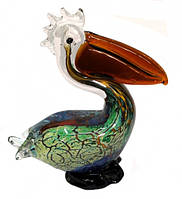 Пеликан цветное литое стекло №1