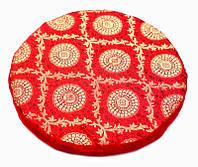 Подушка под поющую чашу с поролоном Бардовая
