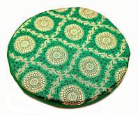 Подушка под поющую чашу с поролоном Зелёная