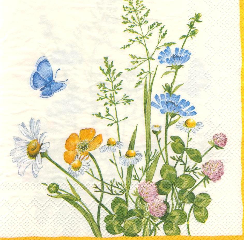Салфетка декупажная Полевые цветы 834