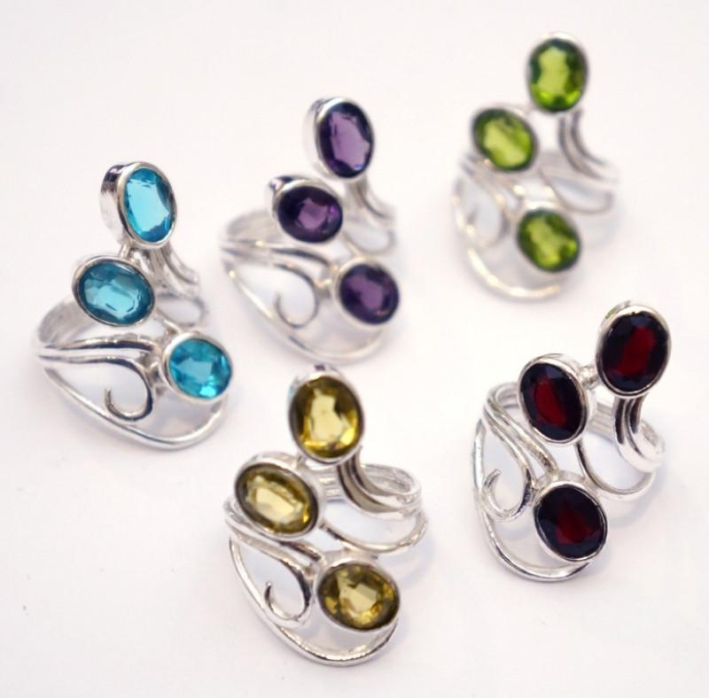 """Кольцо """"Ассорти"""" с натуральным камнем NEHA-20"""
