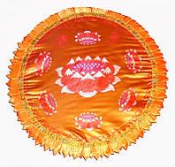 Подушка для медитации с поролоном большая желтая