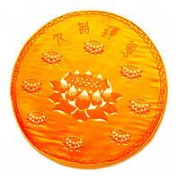 Подушка для медитации с поролоном малая желтая