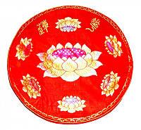Подушка для медитации с поролоном малая красная