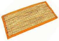 Циновка для медитации из травы Куша (Kusha Asan) 63*38*1см. Оранжевый кант