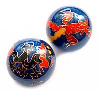 Массажные шары Баодинга в эмали Дракон + Феникс