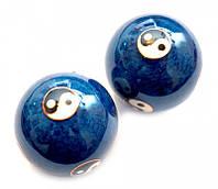 Массажные шары Баодинга в эмали Инь Ян