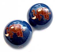 Массажные шары Баодинга в эмали Слоник