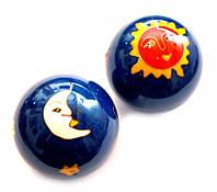 Массажные шары Баодинга в эмали Солнце + Луна