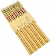 Палочки для еды деревянные комплект из пяти пар №14