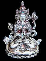 Авалокитешвара серебро h = 15,5 см. НЕПАЛ
