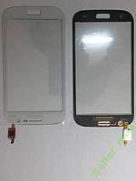 Сенсорное стекло Samsung  I9082, Galaxy Grand Duos белое original.
