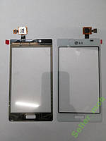 Сенсорное стекло LG P700,  P705, L7 белое original.
