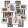 Деревянная мультирамка-коллаж Сапфир на 12 фотографий черно-белая