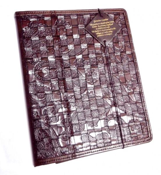 """Чехол для планшета кожаный """"Плетение"""" S-1572"""