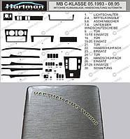 Mercedes C-Klass W202 АКЦИЯ! Накладки на панель под алюминий (1993-1995)