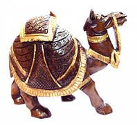 Верблюд деревянный с золотой краской С1001А