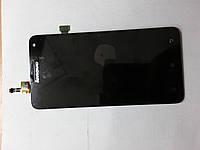 Дисплей (экран) Lenovo S580 с  сенсором черный orig.