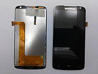 Дисплей (экран) Lenovo S820 с  сенсором черный orig.