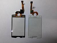 Сенсорное стекло Sony-Ericsson  ST15 белое original.