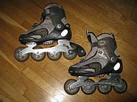 Роликовые коньки HY SKATE, 25,5 см, в хорошем сост