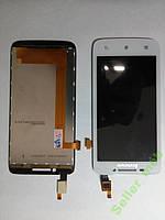 Дисплей (экран) Lenovo  S650 с сенсором белого цвет.
