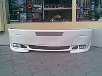 Volkswagen LT 1998+ гг. Передний бампер 2 фары (под покраску)