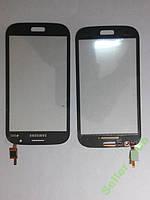 Сенсорное стекло Samsung I9082,  Galaxy Grand Duos синее original.