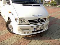 Mercedes Sprinter 1995-2006 гг. Накладка на бампер 4 фары