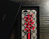 """Iphone 6 / 6S / 6 Plus кожаный чехол панель накладка вышитые принты логоНАТУРАЛЬНАЯ КОЖА """" GUCCI """", фото 3"""