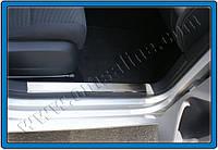 Seat Leon 2005-2012 гг. Накладки на внутренние пороги OmsaLine (2 шт, нерж)