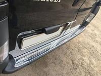 Renault Trafic 2001-2015 гг. Накладки на задний бампер Глянец (OMSA, нерж.)
