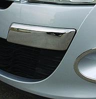 Renault Megane III 2010+ гг. Углы на передний бампер (нерж)