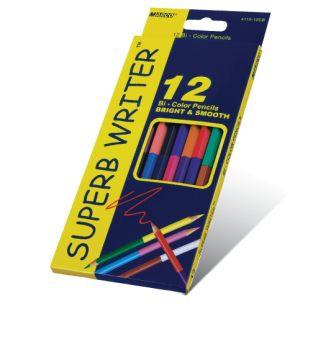 Олівці кольорові 12 кольорів  4110-12СВ, двохсторон, Marco