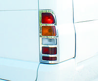 Ford Transit 2001-2014 гг. Накладки на стопы (2 шт, нерж) OmsaLine - Итальянская нержавейка