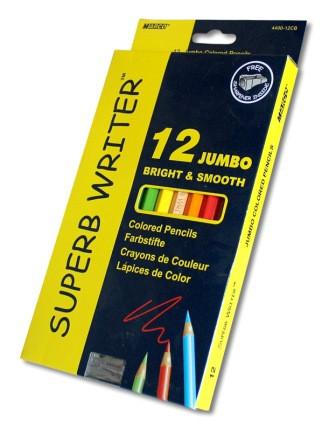 Олівці кольорові 12 кольорів 4400-12СВ, товсті, з точив, Marco