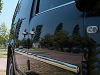 Volkswagen Caddy 2004-2010 гг. Накладки на молдинги (4 шт, нерж) MAXI база, OmsaLine - Итальянская нержавейка