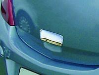 Opel Corsa D 2007+ гг. Накладка на ручку задней двери (нерж) OmsaLine - итальянская нержавейка