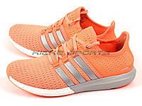 Кроссовки женские Adidas Adidas Gazelle Boost Orange/Silver/White (адидас)