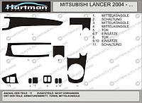 Mitsubishi Lancer 9 2004-2008 гг. Накладки на панель Синий