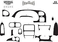 Chevrolet Trailblazer 2002+ гг. Накладки на торпеду Карбон