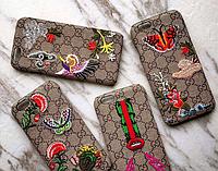 """Iphone 6/6s 4.7 оригинальный кожаный чехол панель бампер накладка НАТУРАЛЬНАЯ КОЖА """" GUCCI """""""