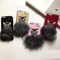 """Iphone 6/6s 4.7 оригинальный кожаный чехол панель бампер накладка МЕХ НАТУРАЛЬНАЯ КОЖА """" FENDI """""""