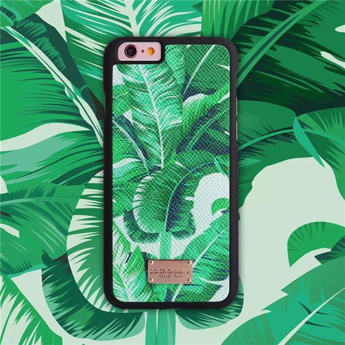 """Iphone 7 / 7 PLUS кожаный чехол панель накладка НАТУРАЛЬНАЯ КОЖА банановые листья DG """" Dolce & Gabbana """""""