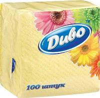 Салфетка бумажная Диво 33*33 100л жёлтая