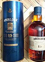 Шотландский виски Аберлау 15 летней выдержки в подарочном тубусе 1л