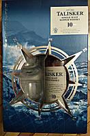 Шотландский островной односолодовый виски Талискер 10 лет выдержки в подарочной коробке с 2-мя бокалами 0,7л