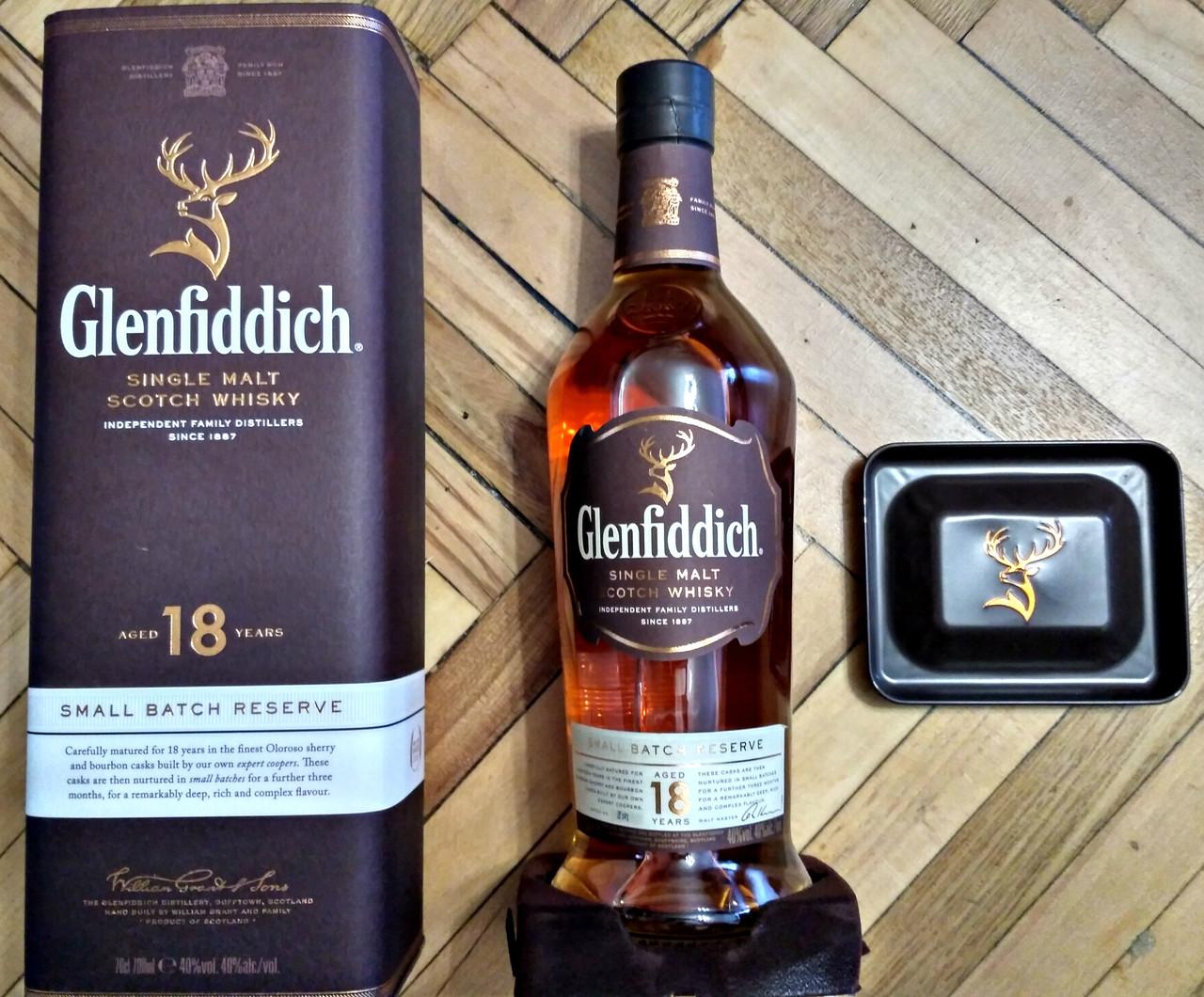 Шотландский олносолодовый виски Гленфиддик / Glenfiddich 18 лет в тубе 0.7