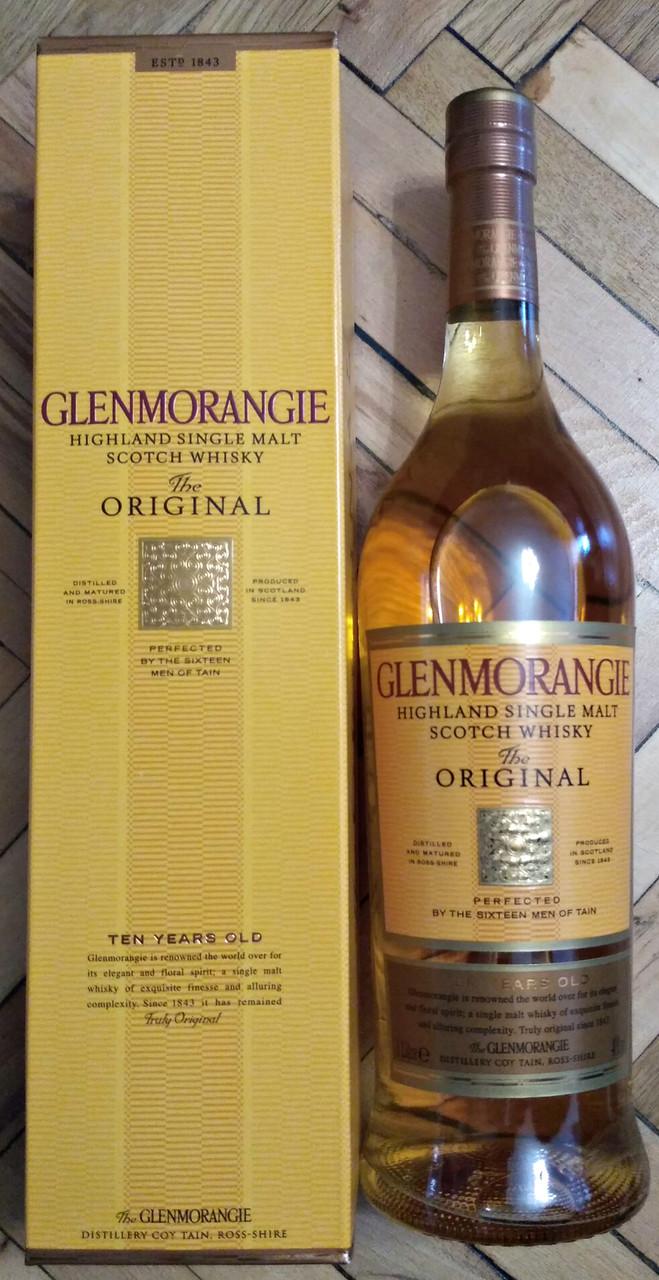Шотландский односолодовый виски Гленморанжи / Glenmorangie 10 лет 1л в подарочной коробке