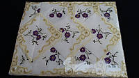 Красивая скатерть + 12 салфеток (с вышивкой), 150х220 см., 155/120 (цена за 1 шт. + 35 гр.)